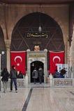 Entrée au tombeau de Rumi, Konya, Turquie Photographie stock libre de droits