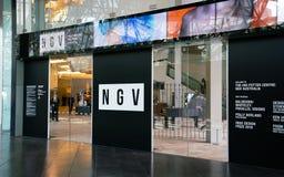 Entrée australienne de Musée d'Art de centre de potier de NGV Ian à Melbourne Victoria Australia images stock