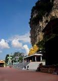 Entrée aux cavernes de Batu, Kuala Lumpur, Malaisie Images libres de droits