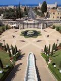Entrée aux jardins de Bahai Images libres de droits