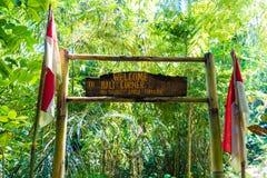 Entrée aux terrasses de riz de Tegallalang près d'Ubud, Bali, Indonésie Photo stock