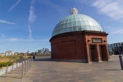 Entrée aux tunnels de pied de Greenwich Image libre de droits