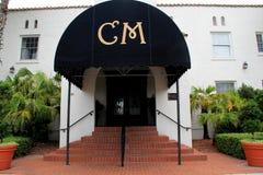 Entrée avant à la maison historique célèbre Marina Hotel et au restaurant, plage de Jacksonville, la Floride, 2015 Images stock