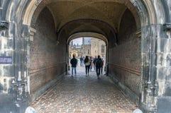 Entrée chez le Binnenhof la Haye les Pays-Bas 2018 images stock
