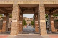 Entrée commémorative nationale du mont Rushmore photo stock