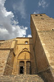Entrée d'église de Belmonte Images libres de droits