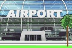 Entrée d'aéroport Image libre de droits