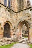 Entrée d'abbaye de Bolton en vallées de Yorkshire Photographie stock