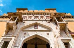 Entrée d'Amer Fort à Jaipur Une attraction touristique importante au Ràjasthàn, Inde Photographie stock