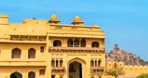 Entrée d'Amer Fort à Jaipur Une attraction touristique importante au Ràjasthàn, Inde Photo libre de droits