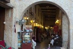 Entrée d'arcade de Soouq dans Doha photographie stock