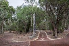 Entrée d'attraction de koala en parc national de Yanchep Photographie stock libre de droits
