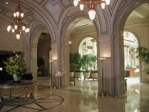 Entrée d'hôtel de palais dans SF, CA Photo stock