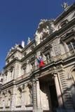 Entrée d'hôtel de ville de Lyon Photo stock