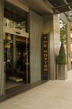 Entrée d'hôtel de Hoxton, Londres Images stock