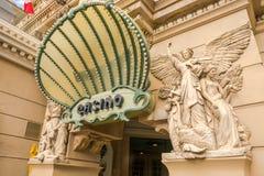 Entrée d'hôtel et de casino de Paris Image stock