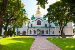 Entrée dans la cathédrale de Sophia de saint à Kiev Image libre de droits