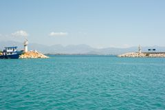 Entrée dans la marina de Setur Finike image libre de droits