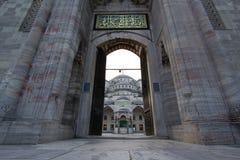 Entrée dans la mosquée bleue, Istanbul Photo libre de droits