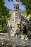 Entrée dans la tour de cloche et dans le vestibule de l'église de temple Images stock