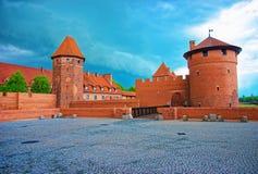 Entrée dans le château de Malbork chez Pomerania Pologne Images stock