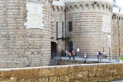 Entrée dans le château des ducs de la Bretagne à Nantes Image stock