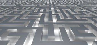 Entrée dans le labyrinthe de lueur Images libres de droits
