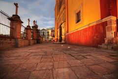 Entrée de basilique de notre Madame de Guanajuato Image libre de droits