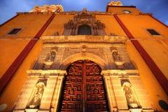 Entrée de basilique de notre Madame de Guanajuato Photos stock
