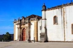 Entrée de bibliothèque de Joanina, université de Coimbra, Portugal photos stock