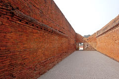 Entrée de brique de Nalanda Mahavihara Image stock