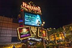 Entrée de casino du ` s de Harrah Photos libres de droits