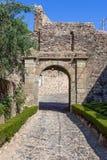 Entrée de Castelo de Vide Castle médiéval Photographie stock libre de droits