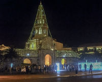 Entrée de centre historique de Carthagène la nuit Photographie stock