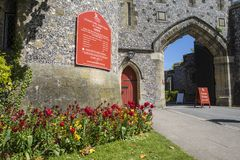 Entrée de château d'Arundel image libre de droits
