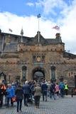 Entrée de château d'Edimbourg photographie stock libre de droits