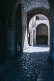 Entrée de château d'ibiza Image stock