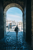 Entrée de château d'ibiza Photo libre de droits