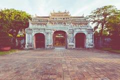Entrée de citadelle Royal Palace impérial de dynastie de Nguyen dedans image stock