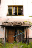Entrée de construction abandonnée Images stock