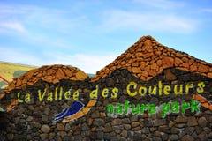 Entrée de couleurs de DES de vallee de La, Îles Maurice Photo stock