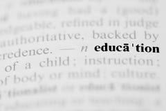 Entrée de dictionnaire d'éducation Photos libres de droits