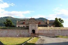 Entrée de fort de Mont-dauphin, Hautes-Alpes, Frances photos stock