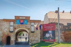 Entrée de forteresse d'Oradea Photographie stock libre de droits