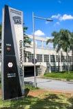 Entrée de garage de bâtiment d'aéroport international de Congonhas Photo libre de droits