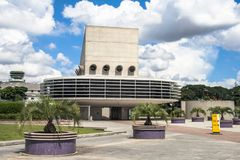 Entrée de garage de bâtiment d'aéroport international de Congonhas Photo stock