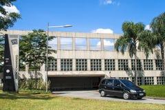 Entrée de garage de bâtiment d'aéroport international de Congonhas Photographie stock libre de droits