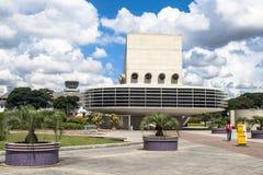 Entrée de garage de bâtiment d'aéroport international de Congonhas Image libre de droits