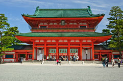 Entrée de Heian Jingu Kyoto Japon Photo stock