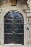 Entrée de l'église du 19ème siècle dans la vieille ville de Xanthi, de Macédoine est et de Thrace Photos libres de droits